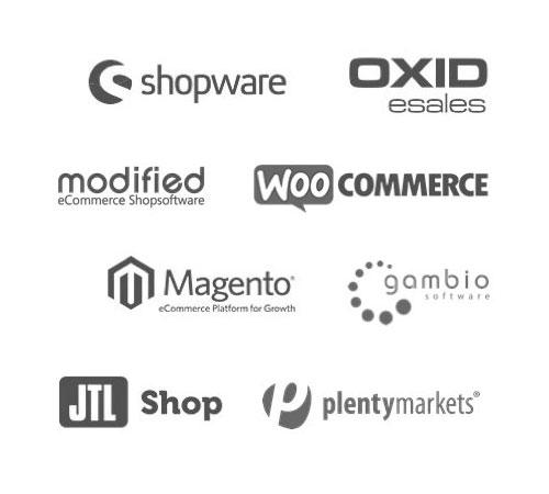 PayPal lässt sich in viele beliebte Shop-Systemen integrieren: Shopware, Gambio, Commerce:SEO, XT:Commerce, OXYD, Magento, modified Shopsoftware, WooCommerce, JTL Shop und plentymarket.
