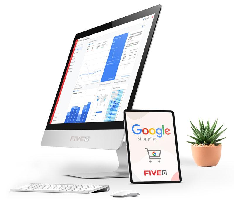 FIVE8 - ihre Internetagentur für Google Shopping Werbung und Werbekampagnen in der Region Rosenheim
