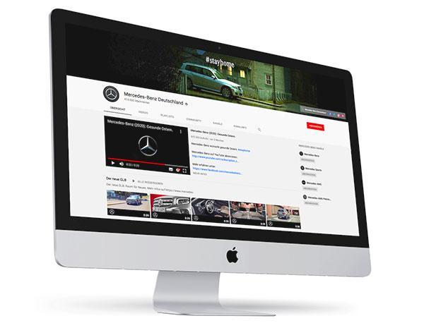 Foto: YouTube Kanal von Mercedes Benz   |   Eigentlich hätte man die schwäbische Premium-Marke auf Platz 1 vermutet. Gegenüber dem Spitzenreiter Opel punktet Mercedes klar über die Reichweite mit konstant mittleren bis hohen 6-Stelligen Videoaufrufen. Ebenso auf Platz 2 ist Mercedes mit der Abonnenten-Anzahl vertreten.