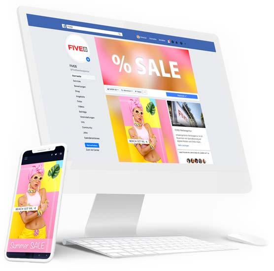 Facebook Werbung und Facebook Marketing für Website und Online Shop in der Region Rosenheim, Raubling und Prien