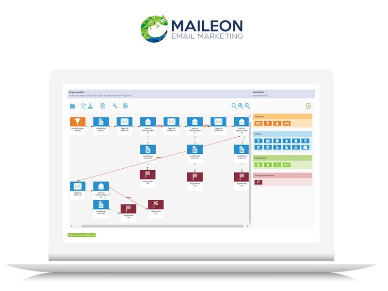 Die Profi E-Mail Marketing Software Maileon von XQUEUE bietet umfangreiche Funktionen für das Lead-Management, Automationen, Segmentierungen sowie die einfache Administration einzelner Newsletter Kampagnen.