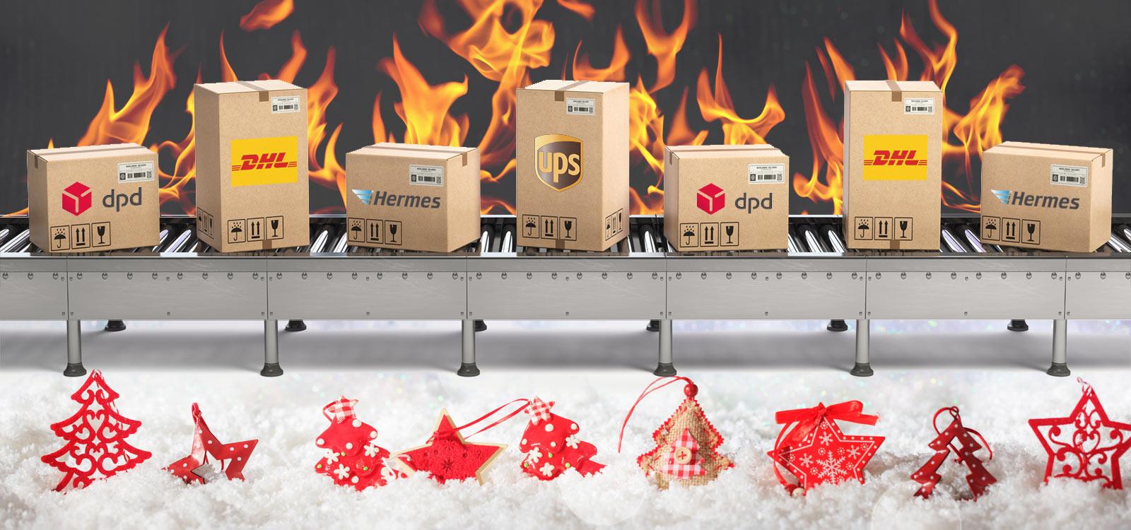 Weihnachten wird für die Paketbranche richtig heiß