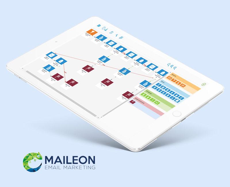 Newsletter Software Maileon von XQueue für E-Mail Marketing, Automationen und Lead Management. FIVE8 aus der Region Rosenheim nutzt als Newsletter und E-Mail Marketing Agentur die Software zur Aussendung von Newsletter-Kampagnen und der Implementierung von Automationen.
