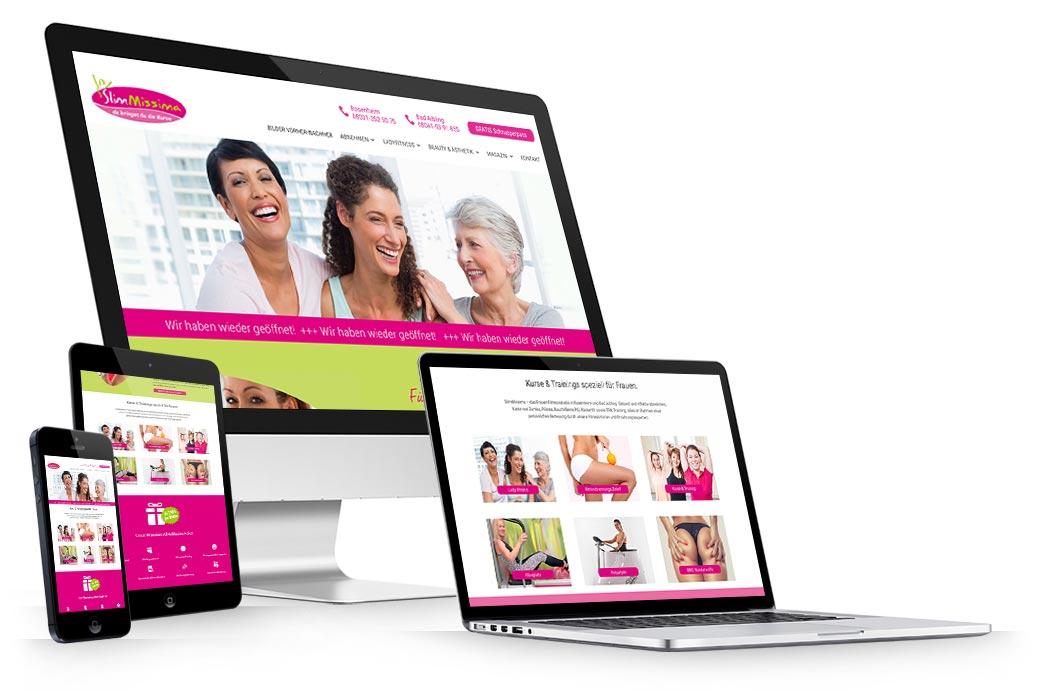 Responsive Webdesign für Website und Onlineshop. Internetagentur für Website-Webdesign in der Region Rosenheim.