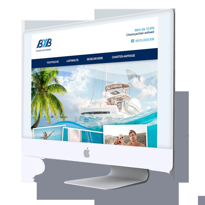 Responsive Webdesign Gestaltung für Website. Internetagentur für Website-Webdesign in der Region Rosenheim.